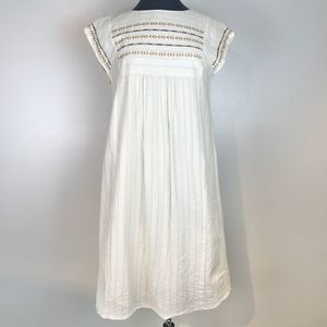 Pendleton Cream Embroidered Dress Size Small